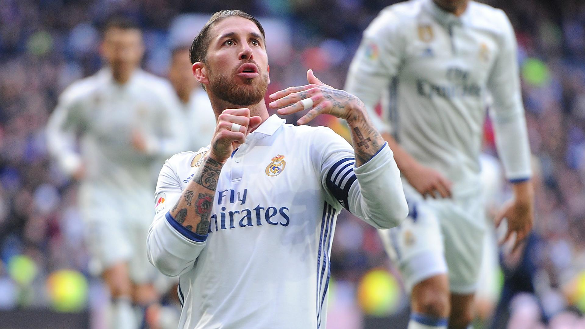 Sergio Ramos Real Madrid Malaga LaLiga 21012017