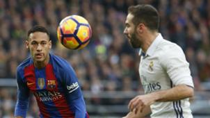 Neymar Dani Carvajal Barcelona Real Madrid La Liga