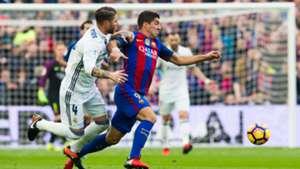 Sergio Ramos Luis Suarez Barcelona Real Madrid Clasico