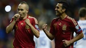 Andres Iniesta Pedro Spain Slovakia Euro Qualifier