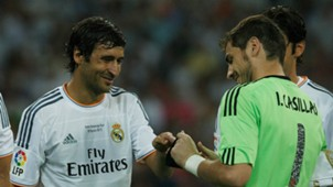 Iker Casillas Raul Gonzalez Real Madrid