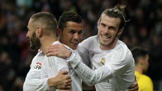 Karim Benzema Cristiano Ronaldo Gareth Bale BBC Real Madrid Sevilla Liga BBVA 20032016