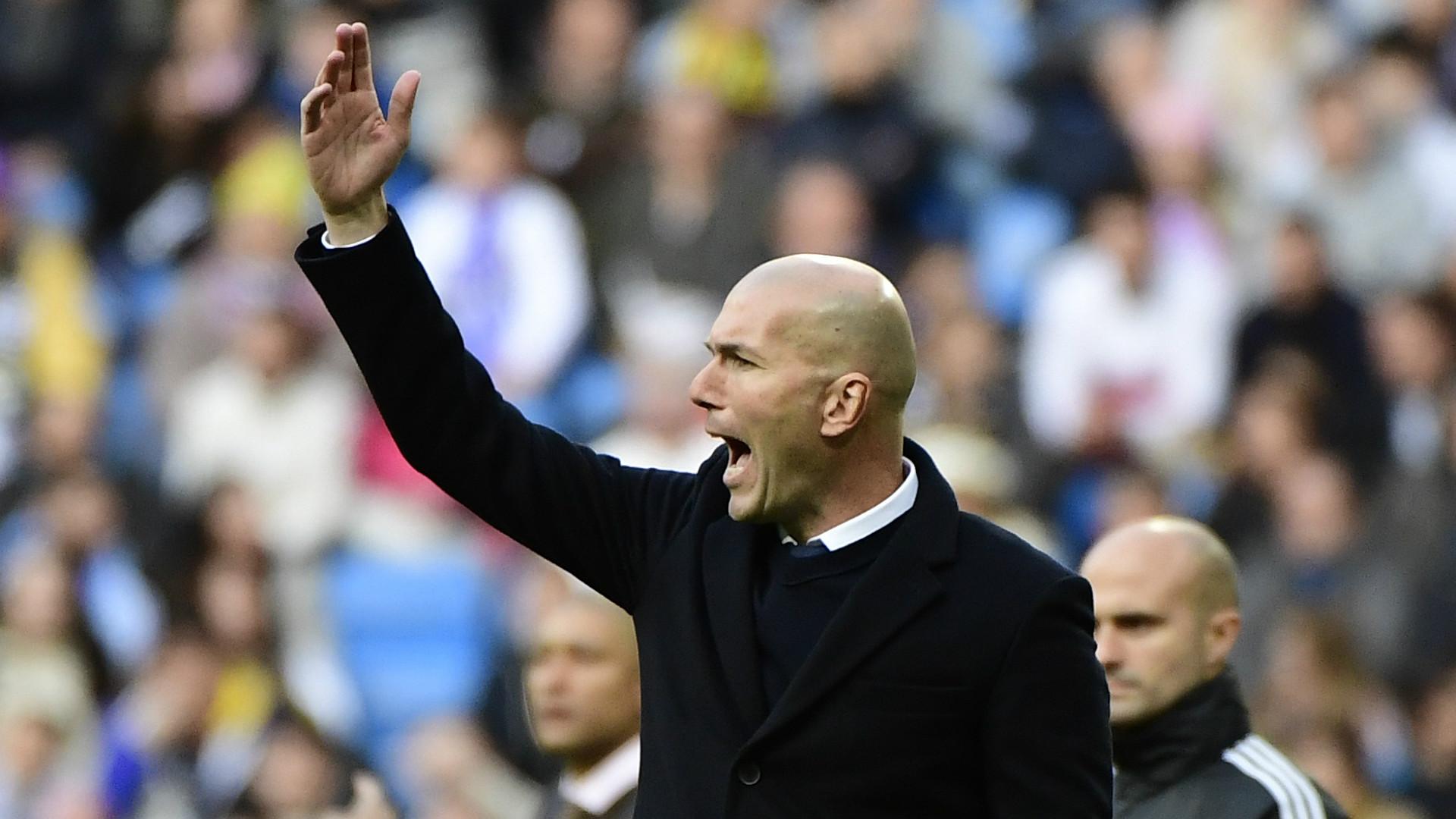 Zinedine Zidane Real Madrid Malaga LaLiga 21012017