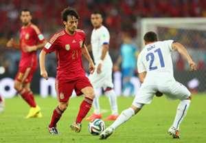 David Silva Marcelo Silva Spain Chile 2014 World Cup Group B 06182014