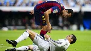 Cristiano Ronaldo Sergio Busquets Real Madrid Barcelona El Clasico La Liga 10252014