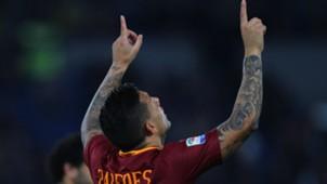 Leandro Paredes celebrating Roma Palermo Serie A 23102016