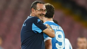 Maurizio Sarri Gonzalo Higuain Napoli Serie A Italy