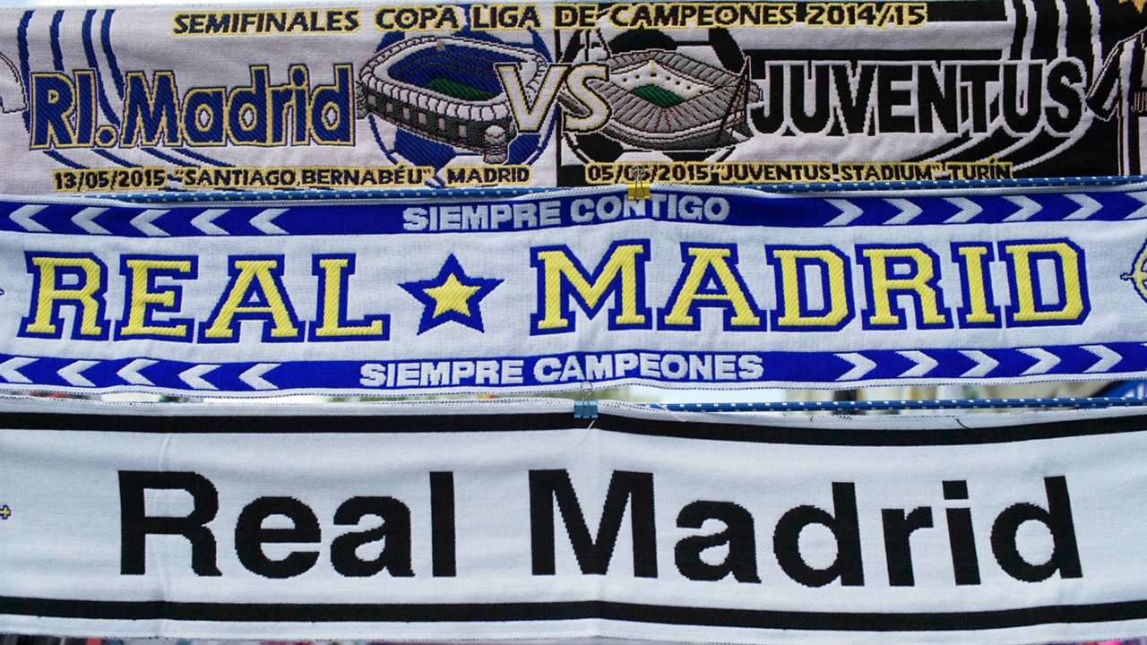 Real Madrid Juventus 2015 scarf