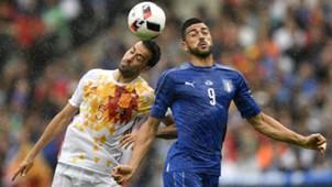 Busquets Pellè Italy Spain Euro 2016