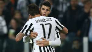 Alvaro Morata Mario Mandzukic Juventus Empoli Serie A 02042016