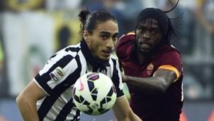 Martin Caceres Gervinho Juventus Roma Serie A