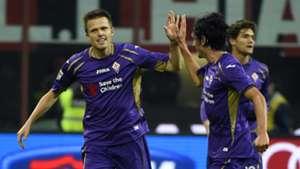 Josip Ilicic Milan Fiorentina Serie A 10262014