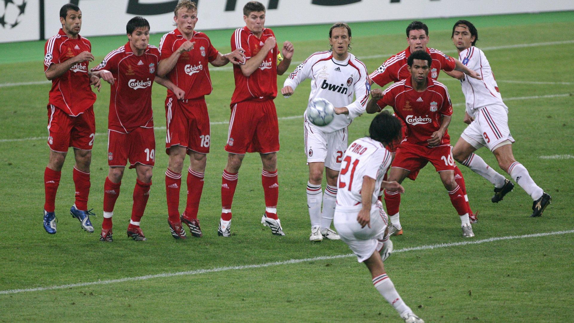 Andrea Pirlo AC Milan Liverpool 2007