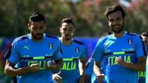 Marco Parolo Graziano Pellè Mattia De Sciglio Italy Euro 2016