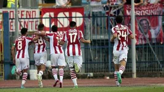 Vicenza celebrating Coppa Italia 1582015