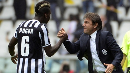 Paul Pogba Antonio Conte Juventus