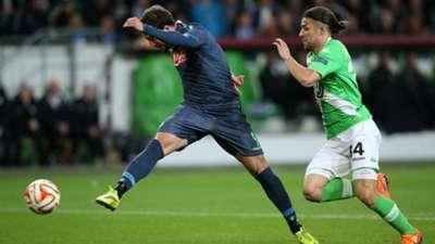 Gonzalo Higuain Wolfsburg Napoli Europa League