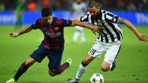 Leonardo Bonucci Luis Suarez Juventus Barcelona