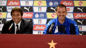 Antonio Conte and Leonardo Bonucci Italy press conference 15062015