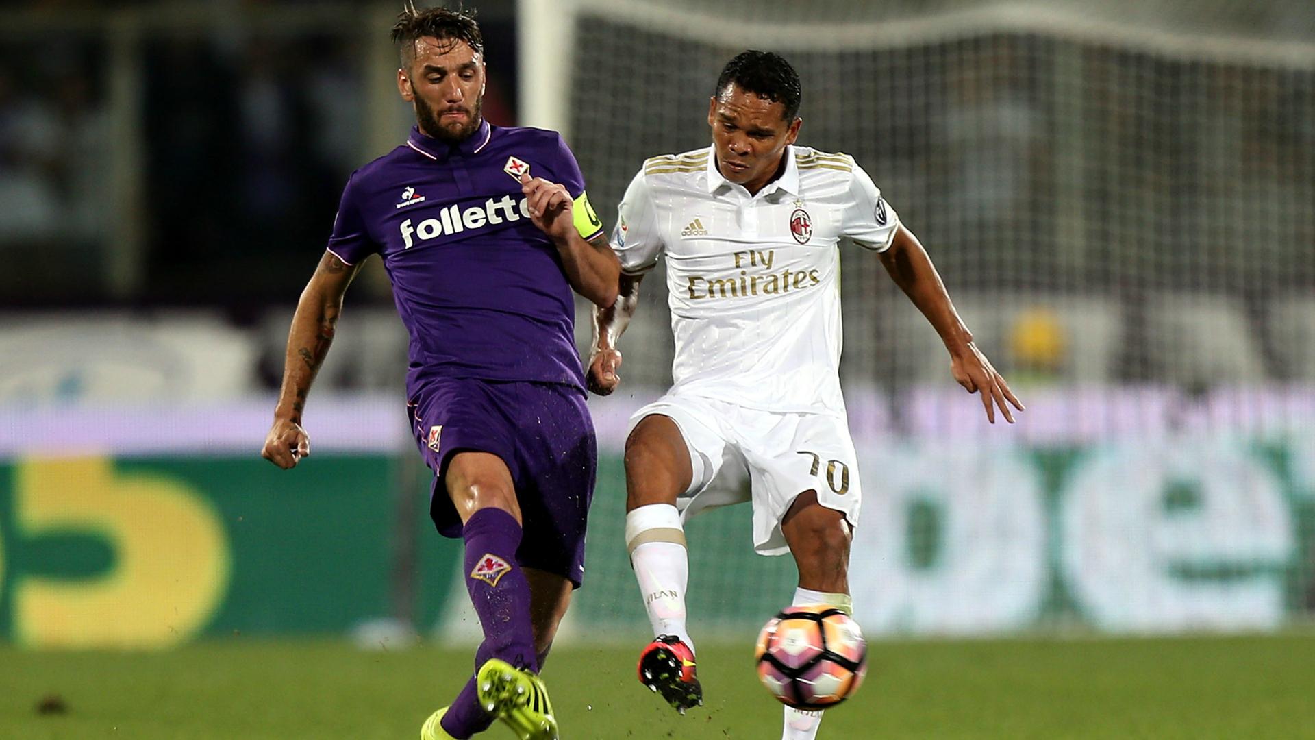 Gonzalo Rodriguez Carlos Bacca Fiorentina Milan Serie A 25092016