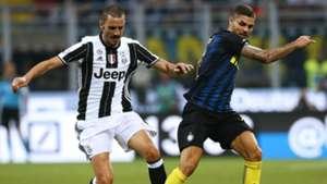 Leonardo Bonucci Mauro Icardi Inter Juventus Serie A 18092016