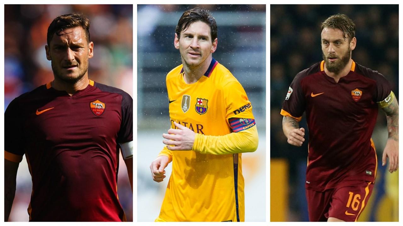 Totti Messi De Rossi