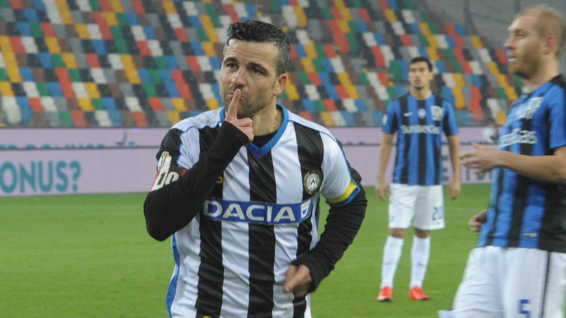 Antonio Di Natale celebrates Udinese Atalanta Coppa Italia 02122015