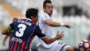 Claiton Ilija Nestorovski  Crotone Palermo Serie A