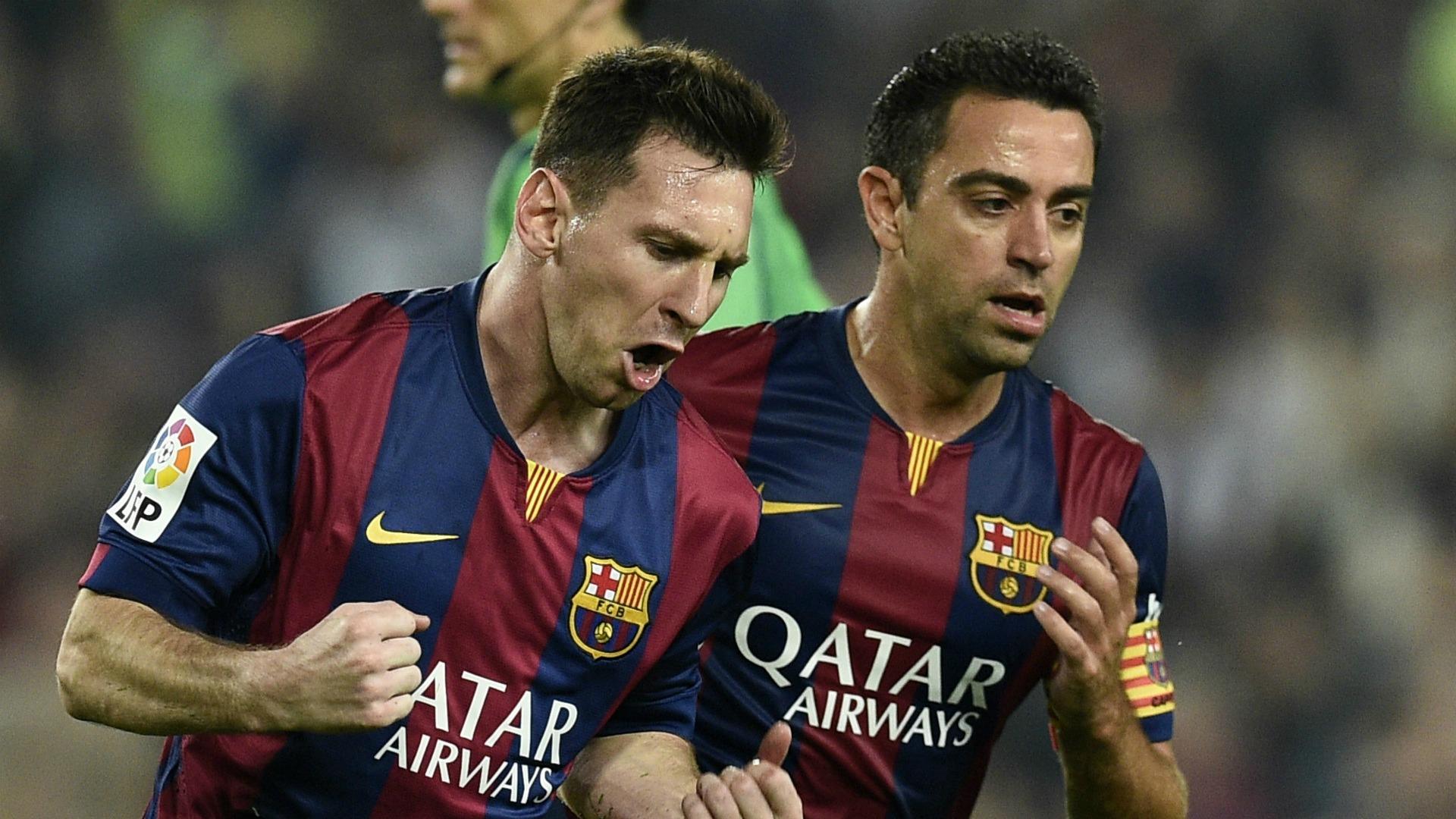 Lionel Messi Xavi Barcelona Sevilla Liga 22112014