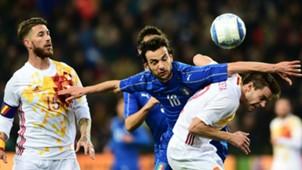 Marco Parolo Sergio Ramos Italy Spain