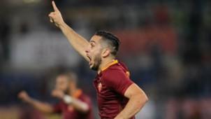 Kostas Manolas celebrates his scoring Roma Inter Serie A 02102016