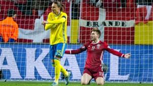 Niklas Bendtner Sweden Denmark UEFA EURO 2016 Qualifier 14/11/2015