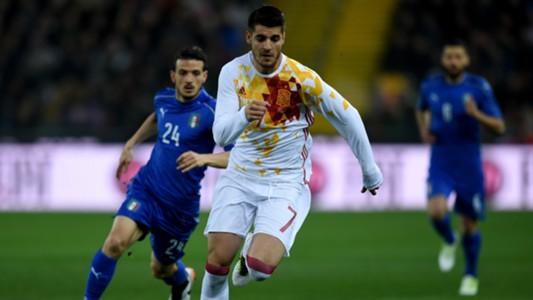 Alessandro Florenzi Alvaro Morata Italy Spain