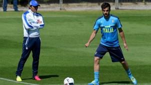 Marco Parolo Antonio Conte Italy Euro 2016