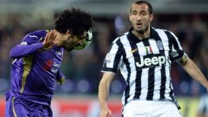 Juventus celebrating vs Fiorentina