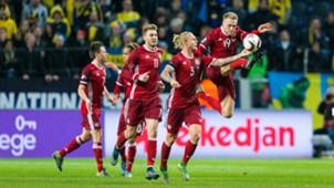 Denmark national team celebrating
