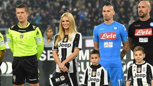 Michelle Hunziker Marek Hamsik Juventus Napoli