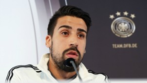 Sami Khedira press conference ahead Germany-Italy friendly 28032016