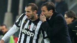 Giorgio Chiellini, Massimiliano Allegri, Juventus, Milan, Serie A, 07022015