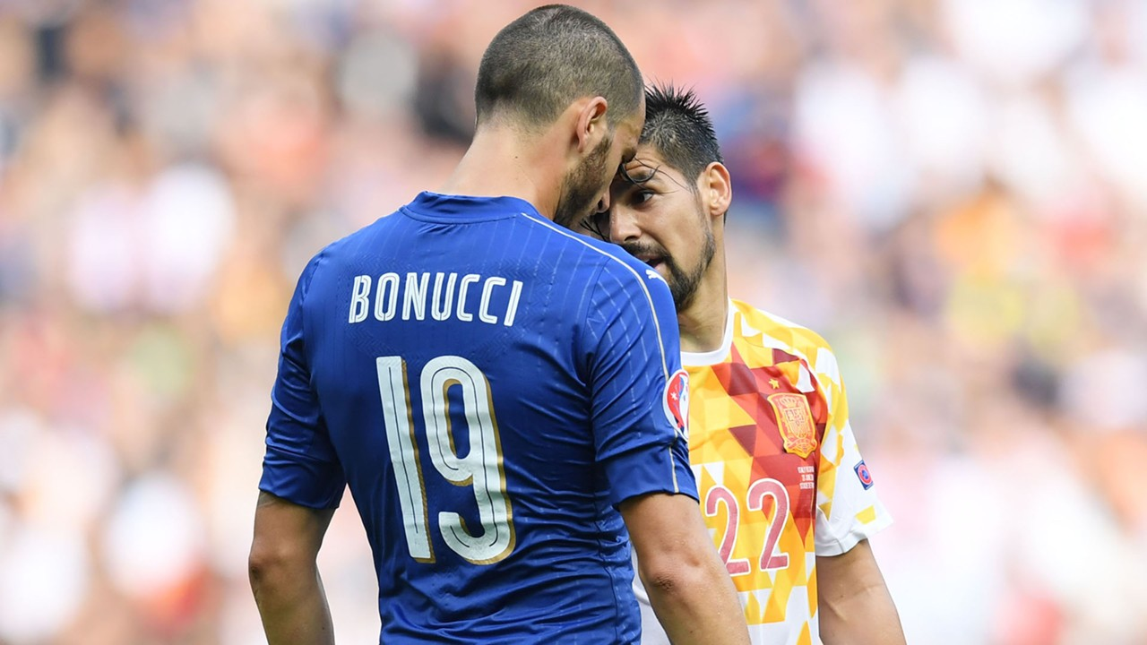 Bonucci Nolito Italy Spain Euro 2016