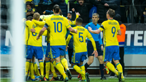 Sweden national team celebrating