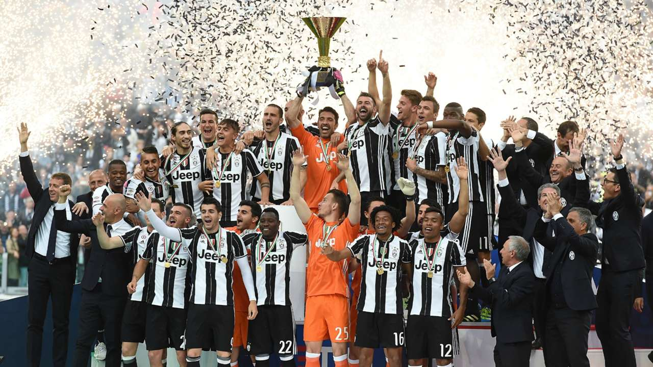 Juventus celebrate Scudetto