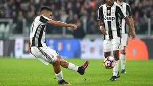 Paulo Dybala scores on freekick Juventus Udinese Serie A 15102016