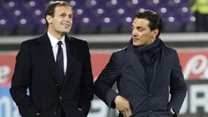 Allegri Montella Fiorentina Juventus Coppa Italia