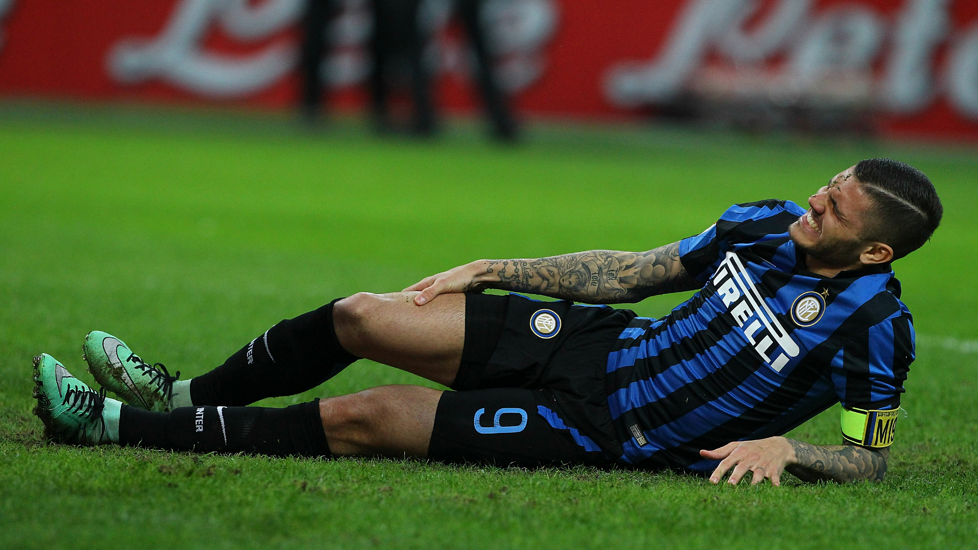 Icardi injured Inter Bologna Serie A 12032016