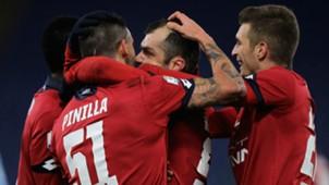 Genoa celebrating Serie A