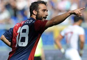 Ioannis Fetfatzidis Genoa celebrating vs Roma