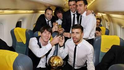 Ballon d'or Messi Xavi Iniesta 2012