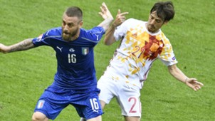 De Rossi Silva Italy Spain Euro 2016