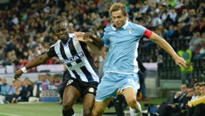 Emmanuel Badu Senad Lulic Udinese Lazio Serie A 01102016